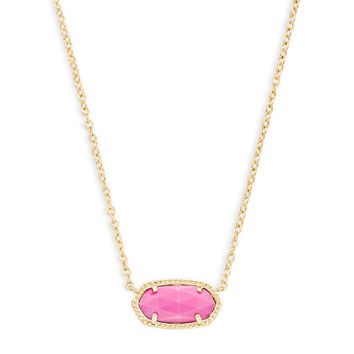 Elisa Gold Pendant Necklace in Pink Magenta | Kendra Scott