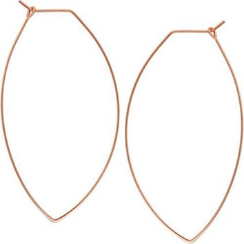 Lightweight Threader Big Hoop Earrings  Hypoallergenic Geometric Thin Wire Loop Drop Dangles Plated in 925 Sterling Silver or 24k Gold by Humble Chic NY