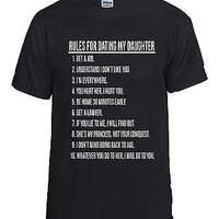 Rules For Dating My Daughter Men's T-shirt