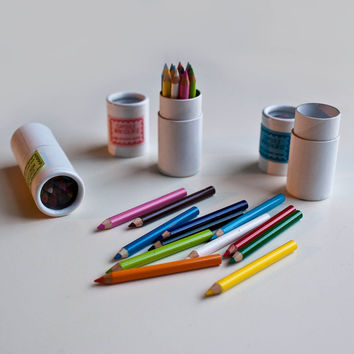Mini Colored Pencil Capsule Set