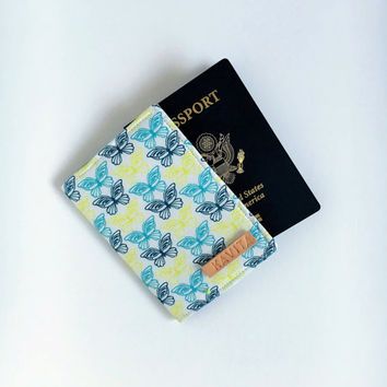 Passport Holder, Passport Cover, Passport Wallet, Passport Case, Personalized Passport Holder, Gift for her