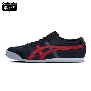 qiyif 2017 New Arrival ONITSUKA TIGER MEXICO 66 Men Skateboarding Shoes Breathable Leather Woman Sport Shoes  Sneakers D4J2L