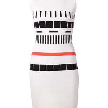 Narciso Rodriguez geometric pattern fitted dress