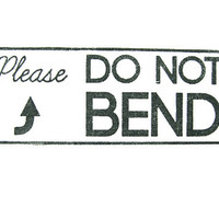 DO NOT BEND Stamp- Custom Rubber Stamp - post stamp, business stamp, packaging stamp, etsy labels, return address stamp, do not bend stamp