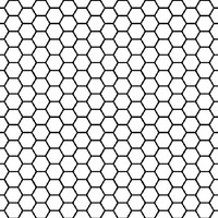 Removable Wallpaper - Black & White Honeycomb