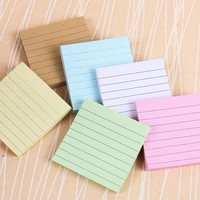 DIY Candy Color Memo Pad Lovely Sticky Notes Paper 80 Pages Post it Note Notepad School Office Supplies Stationery
