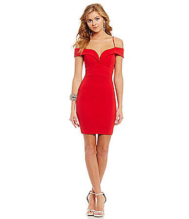 Mystic off the shoulder sheath dress from dillard s the style