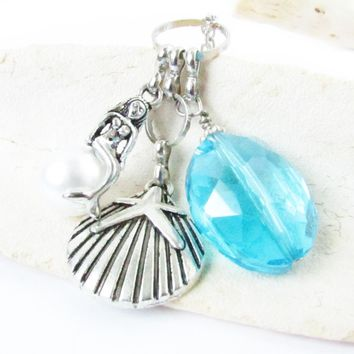 Mermaid Rearview Mirror Charm