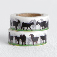 Goat Washi Tape, Barnyard Farm Animal on Grass Decorative Tape 15mm x 10m