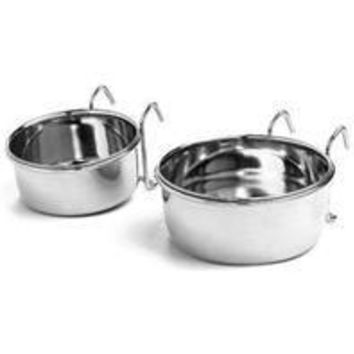Ethical Ss Dishes - Stainless Steel Bird Coop Cup Wire Bracket