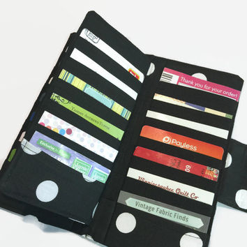 Credit Card Holder, Women's Card Wallet, Polka Dot Wallet, 38 Credit Card Holder, Loyalty Card Organizer, Card Wallet, Women's Wallet