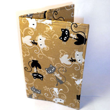 Cat Passport Case tan cat passport cover by redmorningstudios