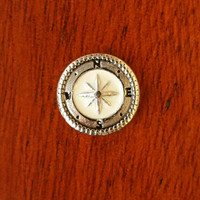 Vintage Silver Compass Floating Charm for Living Memory Lockets