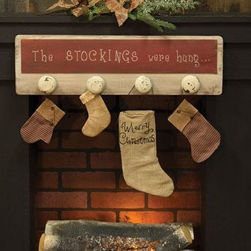 Wooden Christmas Stockings Sign