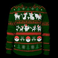 Eeveelution Ugly Christmas Sweater
