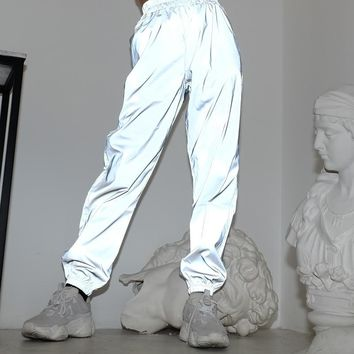 High Waisted 3M Reflective Sport Trousers