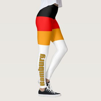 Deutsche Flagge mit Schrift Hamburg/Germany Leggings