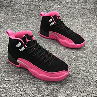 Air Jordan 12 GS Deadly Pink AJ12 Sneakers