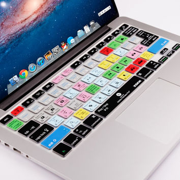 Silicone Keyboard Cover for Macbook Air 13 Pro 13 15 Adobe Premiere Design Shortcut Skin US&European Laptop Accessories Covers