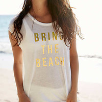 Aerie Graphic Real Soft® Tee , Cream