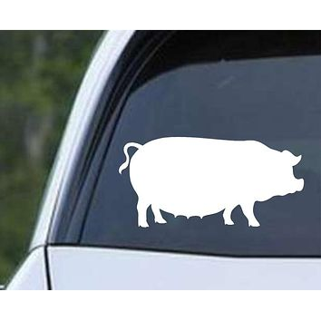 Pig Silhouette (ver b) Die Cut Vinyl Decal Sticker