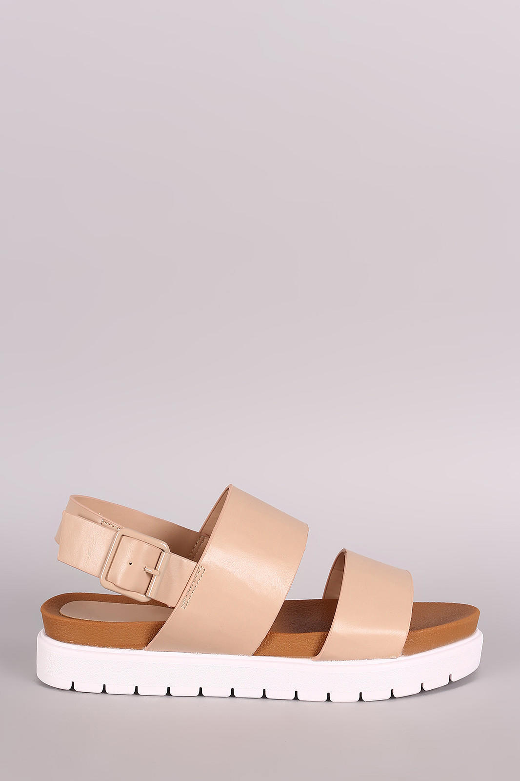 f02aad0ba898af Bamboo Vegan Leather Two Band Lug Sole from DaLa Marie s Boutique