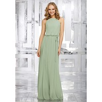 Morilee Bridesmaids 21543 Blouson Chiffon Maxi Bridesmaid Dress