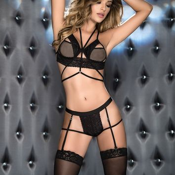All Sexy In Garters Lingerie Set