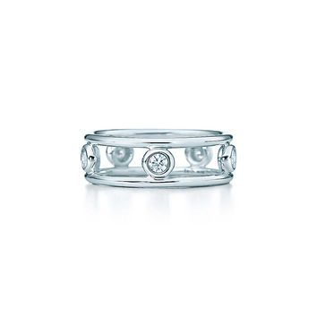 Tiffany & Co. - Elsa Peretti® Diamonds by the Yard® ring in sterling silver.
