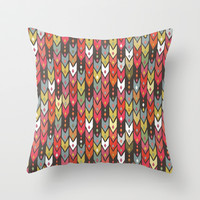 beach knit ikat arrow Throw Pillow by Sharon Turner
