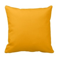 Orange Brigth Yellow Decorative Throw Couch Pillow
