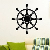 Wall Decal Vinyl Sticker Wheel Sea Ocean Travel Decor Sb417