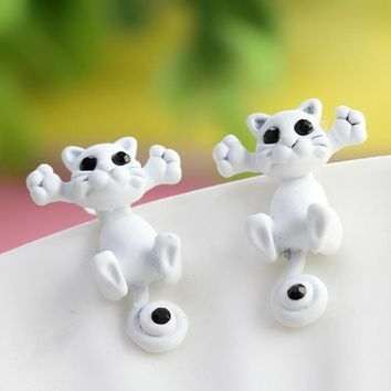 Fashion Kitten Earrings Stud Earrings
