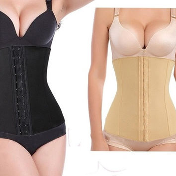 Elastic Hook-up Spiral Steel Boned Waist Trainer Cincher corset Slimming Body Shaper Size XS-4XL = 1958456004