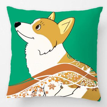 Shiba Inu Throw Pillow Case Cute Doge Decorative Cushion Covers Bedroom Pillowcase Perfect Gift For Sofa Seat