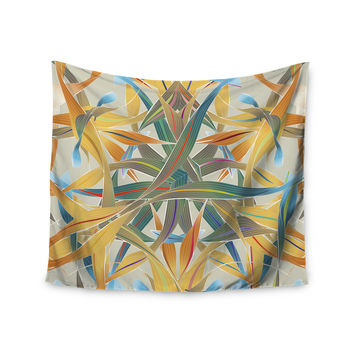 "Angelo Cerantola ""Supreme"" Multicolor Orange Wall Tapestry"