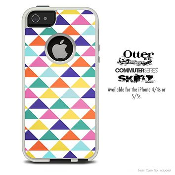 The Fun Colored Triangular Shaped Skin For The iPhone 4-4s or 5-5s Otterbox Commuter Case