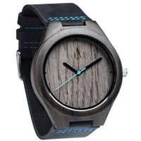 Ebony Watch // Silver Grey Oak Blue II
