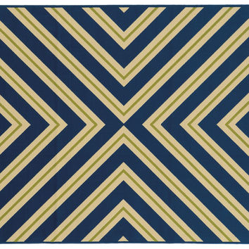Sampson Outdoor Rug, Navy, Area Rugs
