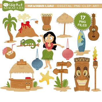 Tiki clipart, Hawaiian tiki party printables, Tiki decoration, Luau clip art, Tiki clip art graphics / Personal and commercial use