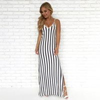 Sea Salt Stripe Maxi Dress