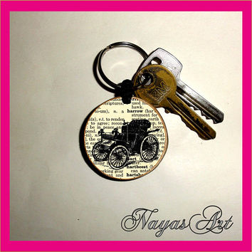 Oldtimer Keychain personalized. Accessories  Old car cute keyring. White Wood Handmade Keyring Keychain. Unique keychain Wooden natural gift