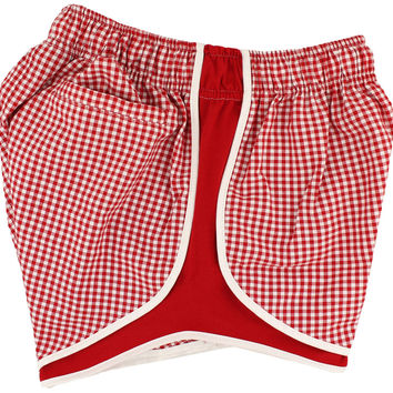 Shorties Shorts in Red Gingham by Lauren James