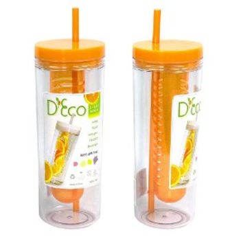 Fruit Infuser Water Bottle by D'Eco (Orange)