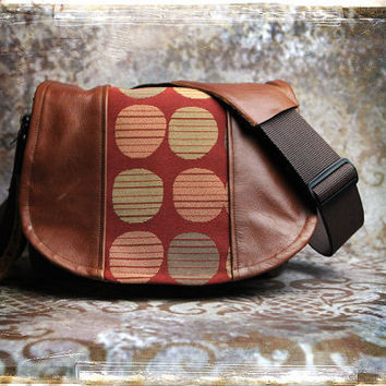 PreOrder   Tapestry and Leather  DSLR Camera Bag  by PorteenGear
