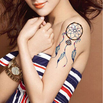 Dream On Free set tattoo dreamcatcher color ink large arm body tattoo
