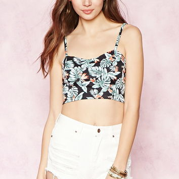 Leaf Print Crop Top | Forever 21 - 2000151390