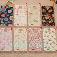 Painted Flower Floral Mobile fashion Clear cover for Apple i phone iphone 4 4s case 5 5s 5c case for samsung galaxy S3 S4 note 2 note 3 case