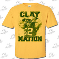 CLAY NATION T-Shirt - Clay Matthews, Green Bay Packers Linebacker #52
