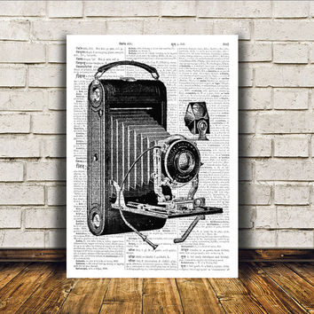 Vintage camera poster Modern decor Retro print Antique art RTA47
